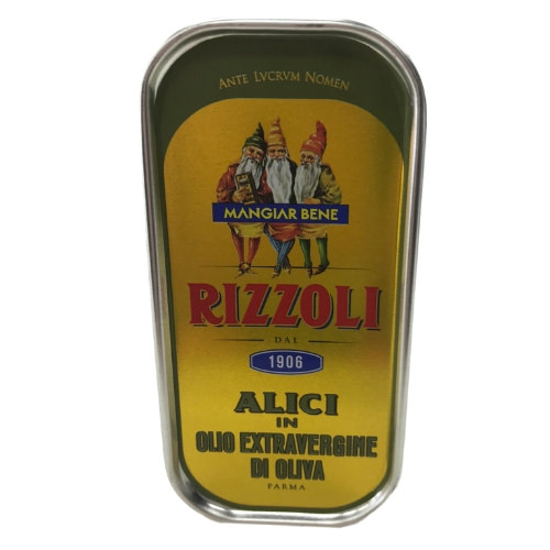 Rizzoli Mediterranean anchovy fillets in extra virgin olive oil