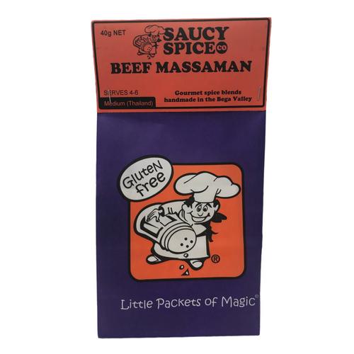 Saucy Spice Co Beef Massaman