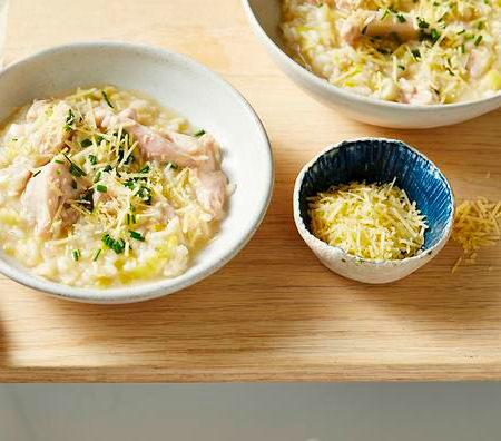 Italian Leek, Lemon and Chicken Risotto